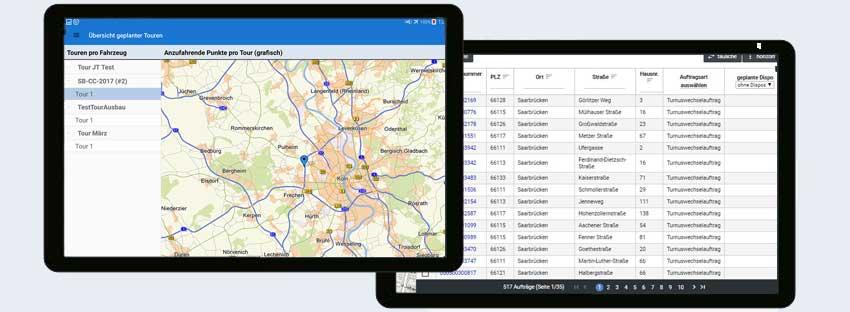 co.mobile Dispositionstool Tourenplanung