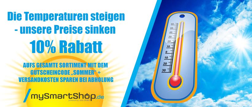 Sommerrabatt 10% Im Onlineshop Mysmartshop.de